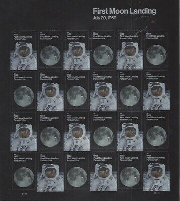 2019 50th Anniversary Moon Landing Forever sheet - 24 stamps