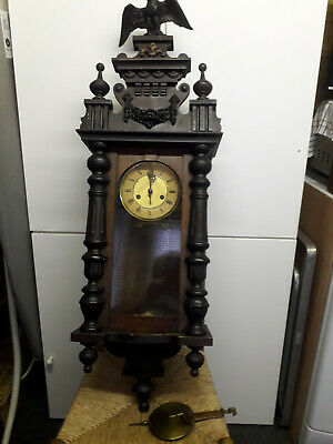 Antique Wall Clock Needs TLC Spares or Repair no Reserve Shrewsbury Shropshire