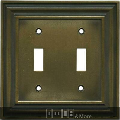 Brainerd Rustic Edges Tumbled Antique Brass  Switch Plates, Wall Plates & Outlet