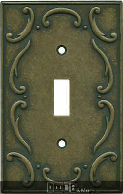French Lace Burnished Antique Brass  Switch Plates, Wall Plates & Outlet Covers