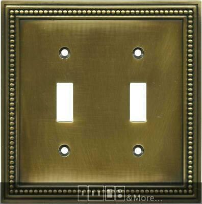 Beaded Tumbled Antique Brass  Switch Plates, Wall Plates & Outlet Covers