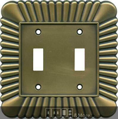 French Tassel Antique Brass Switch Plates, Wall Plates & Outlet Covers