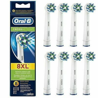 Braun Oral B CROSS ACTION Replacement Electric Toothbrush Heads 2, 3, 4 or 8 NEW