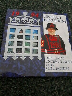 Royal Mint United Kingdom Brilliant Uncirculated Coin Set Collection 1994