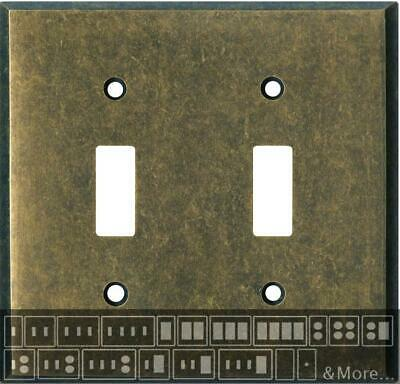 Mottled Antique Brass Switch Plates, Wall Plates & Outlet Covers