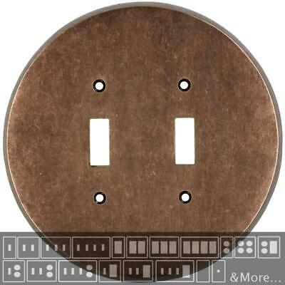 Round Mottled Antique Copper  Switch Plates, Wall Plates & Outlet Covers