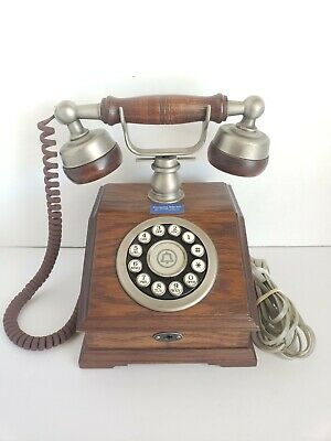 """Western Electric """"Country Squire"""" Wood Desk Telephone  Vintage"""