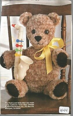 PATCHWORK TEDDY BEAR Crochet PATTERN INSTRUCTIONS from a