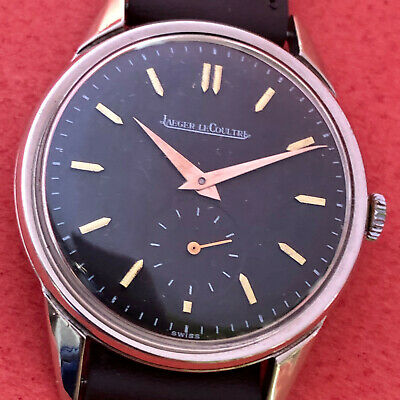 VINT JAEGER LECOULTRE  BLACK DIAL EXTREMILLY BIG cal 469 CA57 NO RESERVE PRICE@@