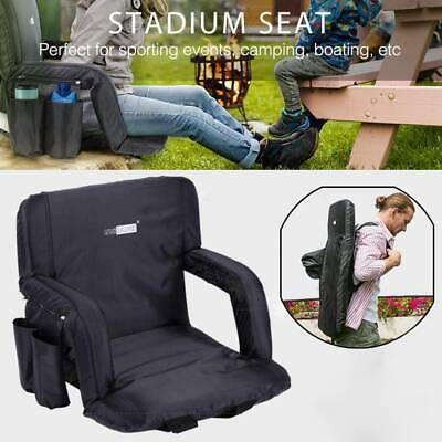 VIVOHOME Large Size Foldable Stadium Seat Chair for Bleacher Padded Back Support