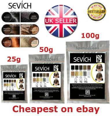 Sevich Refill Hair Fibers Keratin Building Thickening 25 50 100g Pack Fibre Loss