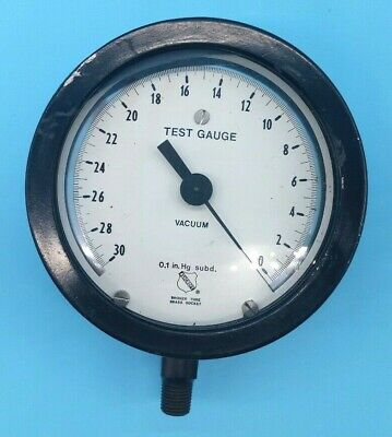 Ashcroft 0.1 in Hg subd. Test Vacuum Gauge
