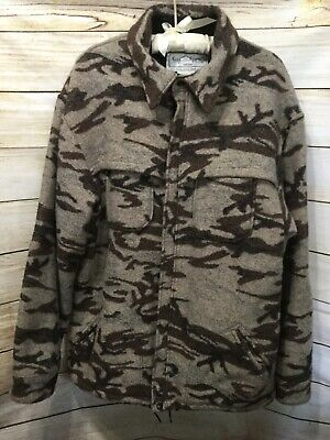 King Of The Mountain Omnitherm Hunting Shirt Jacket Wool Camo Size XL