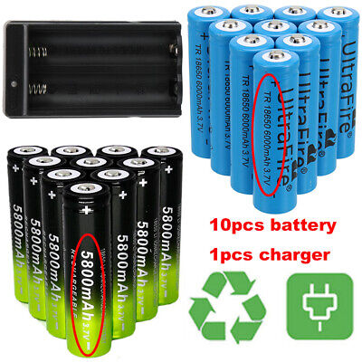 18650 Battery Li-ion 3.7V Rechargeable Batteries For Flashlight Torch Headlamp*