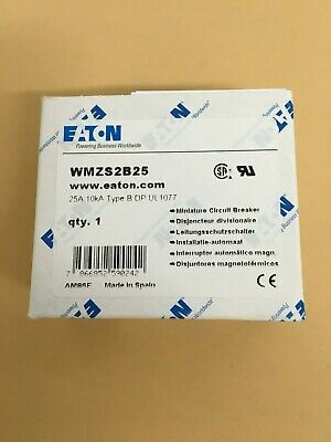 Eaton Wmzs2B25 Miniature Supplementary Protector Wmz Series 25A 480Y / 277 Vac /