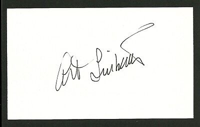 Art Linkletter Hand Signed Autographed White Index Card