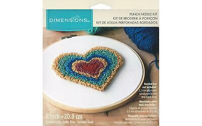 Dimensions Dim70024 Punch Needle Kit 8 Heart Retro