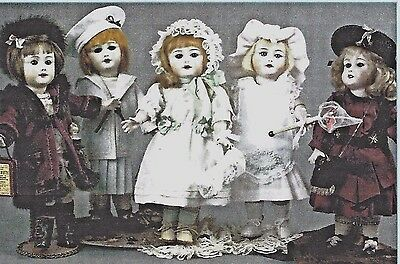 "10""Antique-Vintage Bleuette Silver Doll Dress Underwear Shoes Wardrobe Pattern"