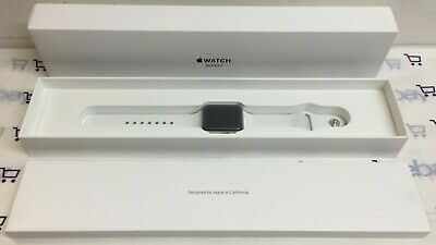Apple Watch Series 3 GPS 38mm ~ Silver Aluminum Case w/ White Sport Band ~ A1858