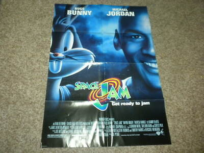 SPACE JAM - BUGS BUNNY MICHAEL JORDAN 1996 1/one sheet movie poster 27x41""