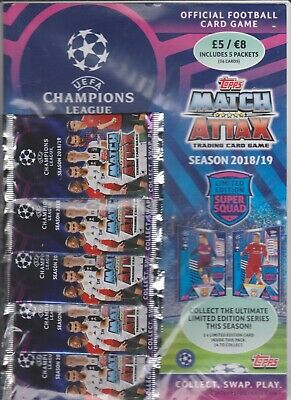 Match Attack - UEFA - Champions League 2018/9 - 5 Packs Cards - Brand New