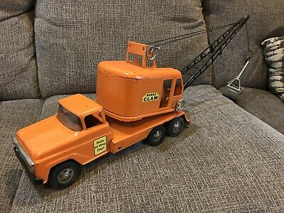 Vintage Tonka Mobile Clam Construction Pressed Steel Toy Truck