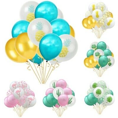 15pcs/Lot Flamingo Cactus Pineapple Tropical Balloon Birthday Party Decor 12inch
