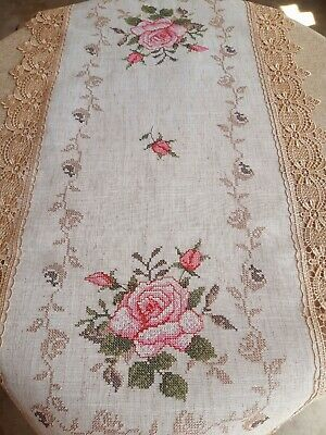 Rectangle 40*90cm Premium Polyester Knitted White Table Runner-OtherSizesAvaila
