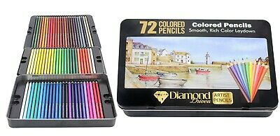 72 Prismacolor Premier Colored Pencils Platinum Soft Core Artist Paint Tin Case