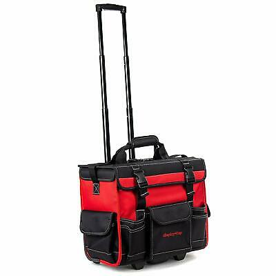 """18"""" Tool Bag Fat Max Multi Function Rolling Water Resistant w/Telescoping Handle"""