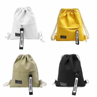 eBuyGB Unisex Travel Sports Beach Drawstring Rucksack Backpack Sack Tote Bag 100/% Cotton for Women Men and Children
