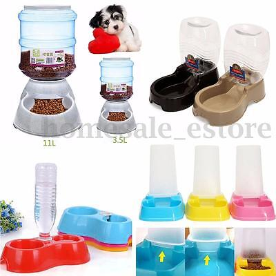 Large Capacity Pet Dog Cat Puppy Automatic Food Feeder Dish Bowl Dispenser New