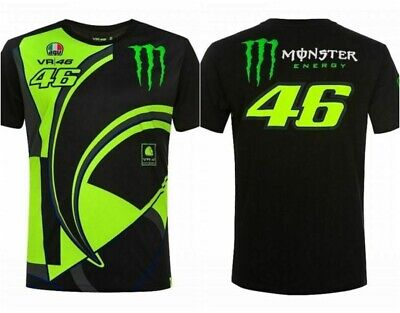 Valentino Rossi 46 Moto GP Monza MONSTER Replica T Shirt Tee Men Motorcycle Race
