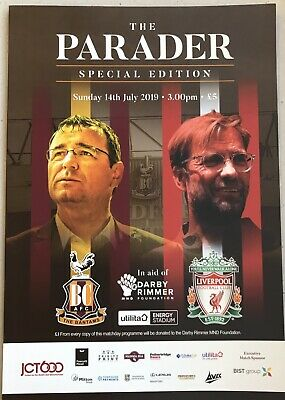 Bradford City v Liverpool Pre-season Friendly Sunday 14 July 2019