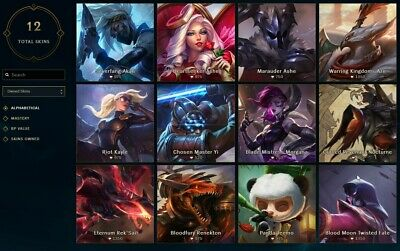 League of Legends Account | LOL | NA | IRON II | 51 Champ 12 skins - SALE !