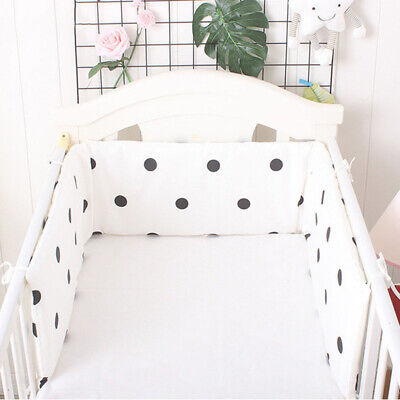 1Pc Baby Crib Bumper Breathable Infant Cot Bumper Thick Soft Baby Bed Protector