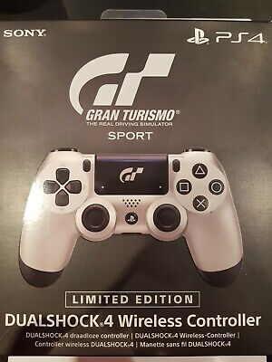 Gran Turismo Sport Playstation 4 Dualshock Controller  (Limited Edition) Silber