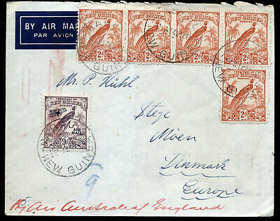 Papua New Guinea 1938 Commercial Cover To Denmark.  A636