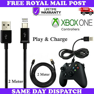 2M Long Charger Charging Cable For XBOX ONE 1 Controller Power Lead Wire Cord UK