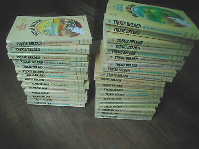 Lot of 1 to 34 Trixie Belden paperback books oval covered paperbacks