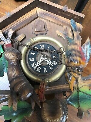 cuckoo wall clock For Spares Or Repair No Weights With This
