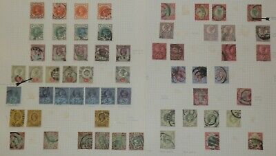 QV 1887/1900 Jubilee Issues,Mostly Fine used 59 stamps all values 7x1/- 8 scans