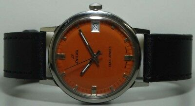 Vintage Enicar Winding Date Swiss Made Wrist Watch Old Used Antique k177 Superb