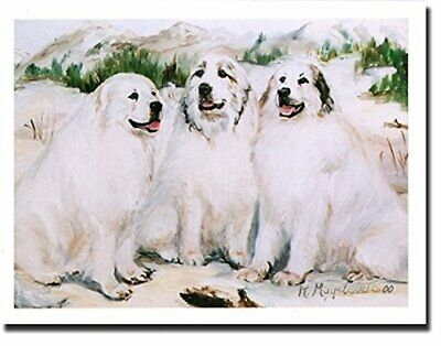 New Great Pyrenees Trio Notecards 6 Note Cards & 6 Envelopes By Ruth Maystead