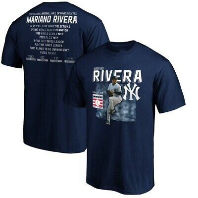 Mariano Rivera New York Yankees 2019 Hall of Fame Stats T-Shirt S-3XL
