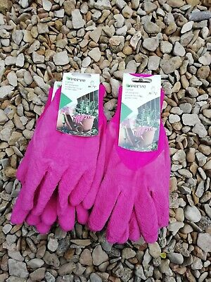 Verve Ladies All Purpose garden Gloves, Medium size 8 Job Lot x 10 pairs Pink