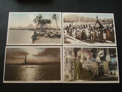 Lot 4 Pc Egypt Egypte Le Caire Cairo
