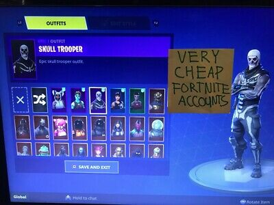 Fortnite 3 random skins account (Ask for wich one!)