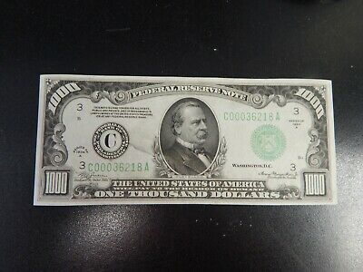 AC 1934A $1000 Philadelphia ONE THOUSAND DOLLAR BILL PCGS 65