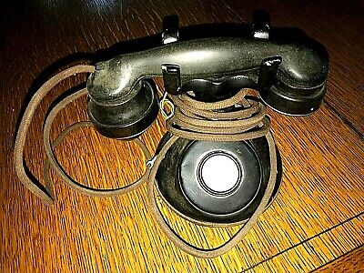 1924 Antique Western Electric Non Dialing Black Table Telephone Station
